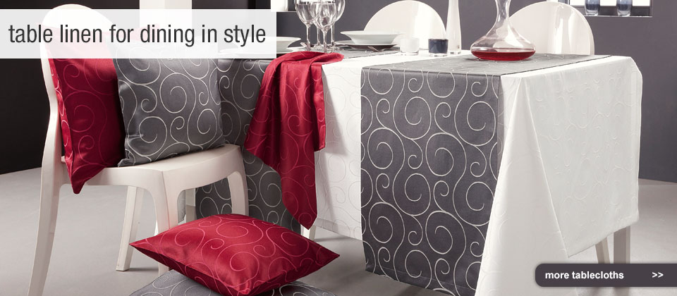 table linen for dining in style