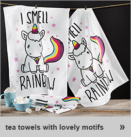tea towels with fab motif