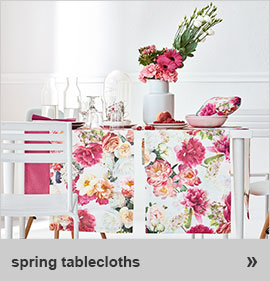 spring table cloth!