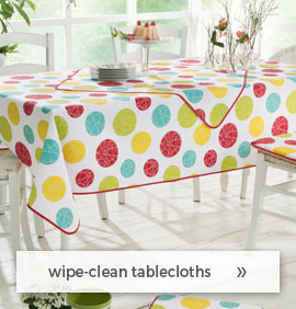 wipe-clean tablecloths